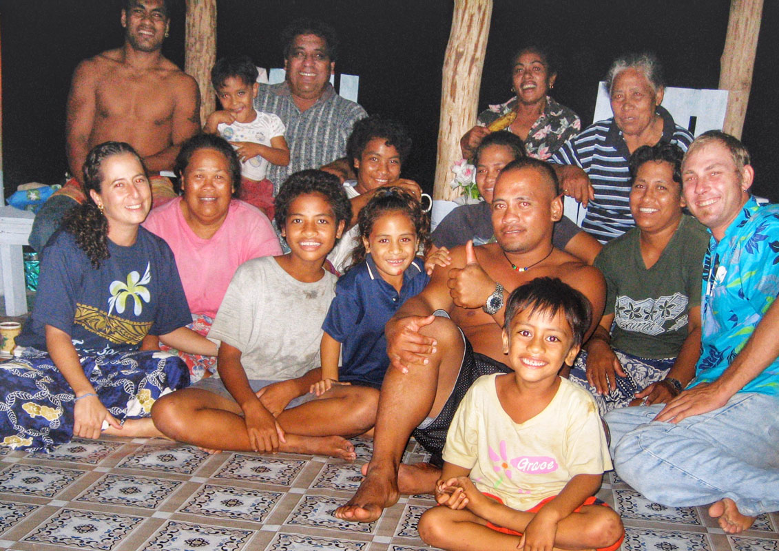 Peace Corps Samoa with my Taga Savaii village family