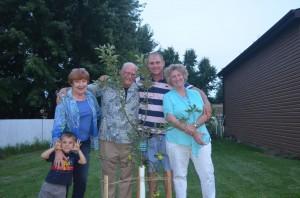 ted, liz, gayle, ethan and Taj - Ted's 70th birthday