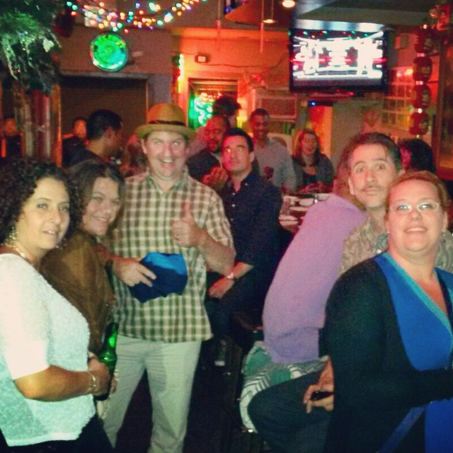 San Fran karaoke bar with island friends.