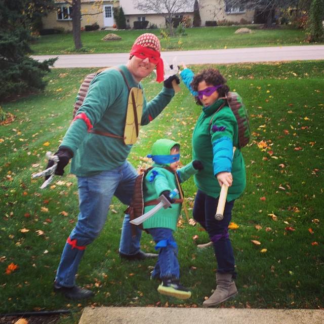 family ninja turtle costume
