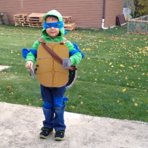 homemade turtle shell costume