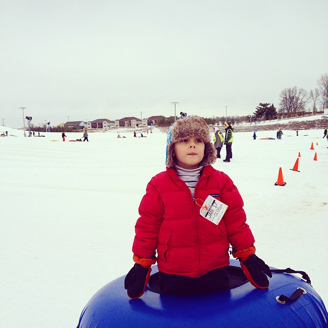Wisconsin snow tubing at Sunburst