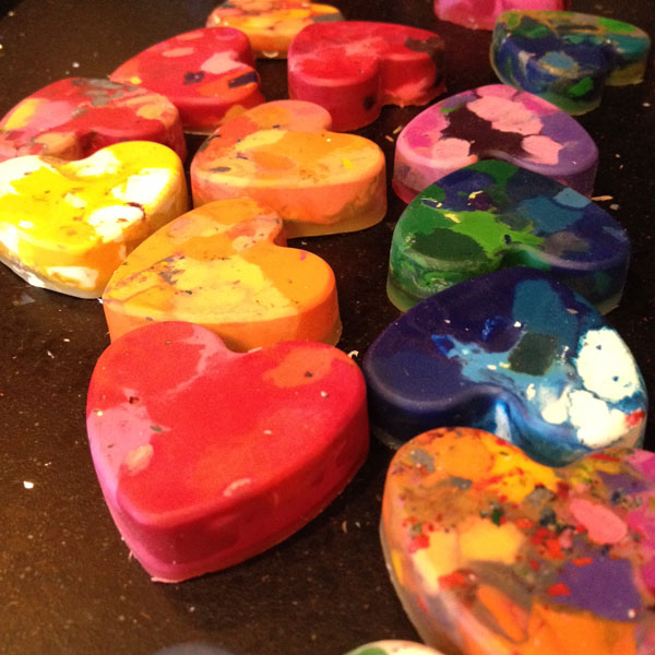 crayon hearts for valentines day