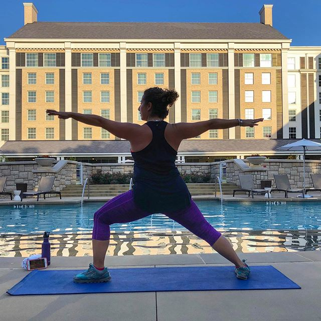 PiYo by the pool at @guesthousegraceland! Exercise has made me a stronger person physically, mentally, and spiritually. Finding a way to fit a workout into my day helps me remember to prioritize the important things in life. #piyo #piyoworkout #piyoresults #hotelgym #gracelandguest