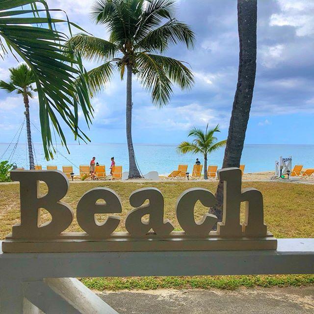 Beach sign St Croix US Virgin Islands Caribbean