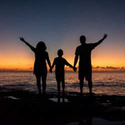 sunset-family-caribbean-photo